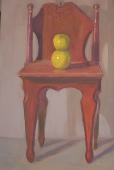 Red Chair with Apples