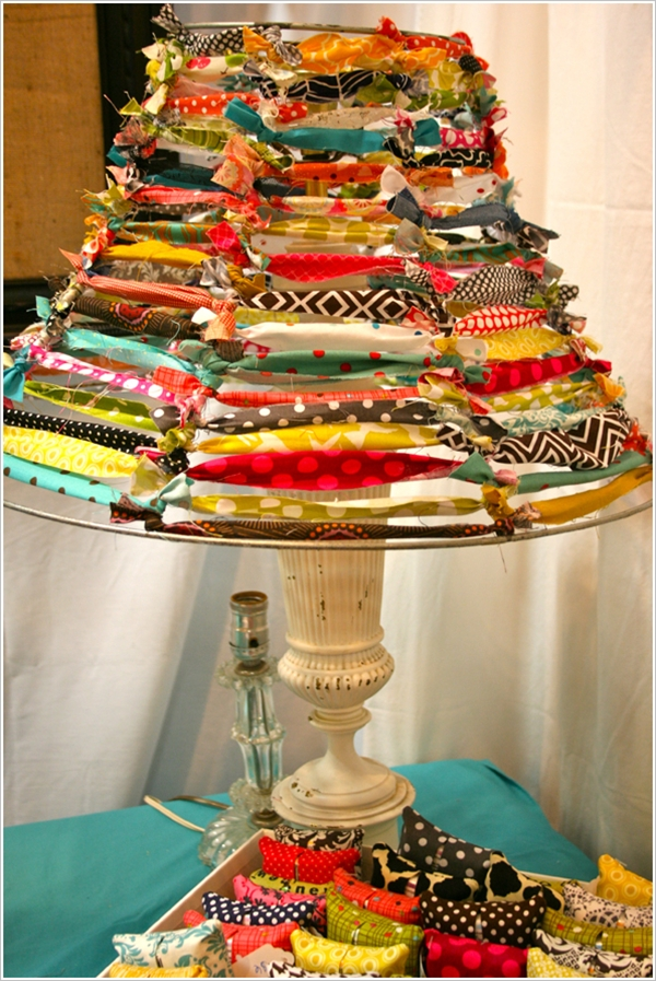Fabric Home Decor Ideas Part - 27: Close Up For Use Of Leftover Fabric-fun