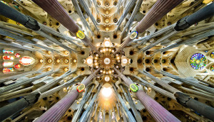 Sagrada Familia nave roof detail