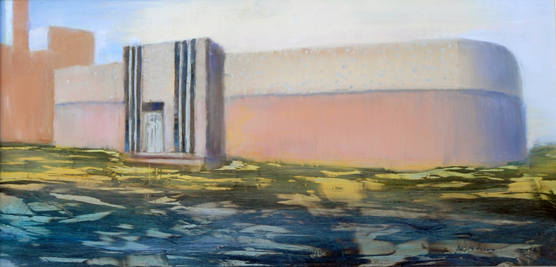 "Pumping Station Pink 12x24"" Oil/Aluminum"