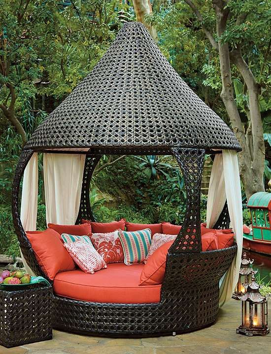 Pinterest Canopied Daybed from Frontgate