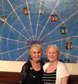 Gail & Laurel in front of the Wonder Wheel Oil 48x60""