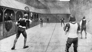 Played off that wall, Real Tennis circa 12th century