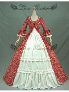 red-printed-tudor-victorian-ball-gowns