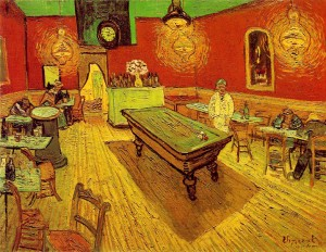 """The Night Café, (1888), by Vincent van Gogh, used red and green to express what Van Gogh called """"the terrible human passions."""""""