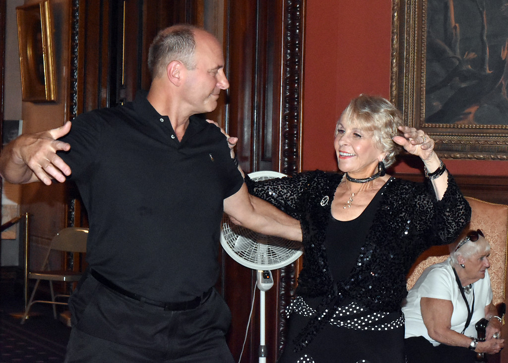 Son Rick and me dancing